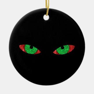 Evil Eyes Ceramic Ornament