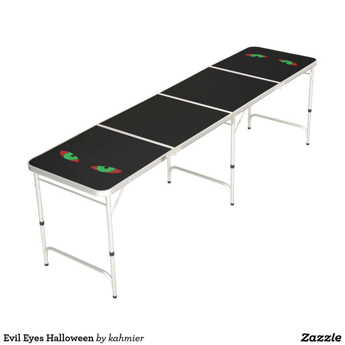 Evil Eyes Halloween Beer Pong Table