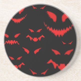 Evil Eyes Halloween Coaster
