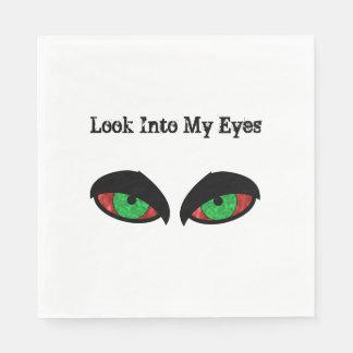 Evil Eyes Halloween Look Into My Eyes Paper Napkin