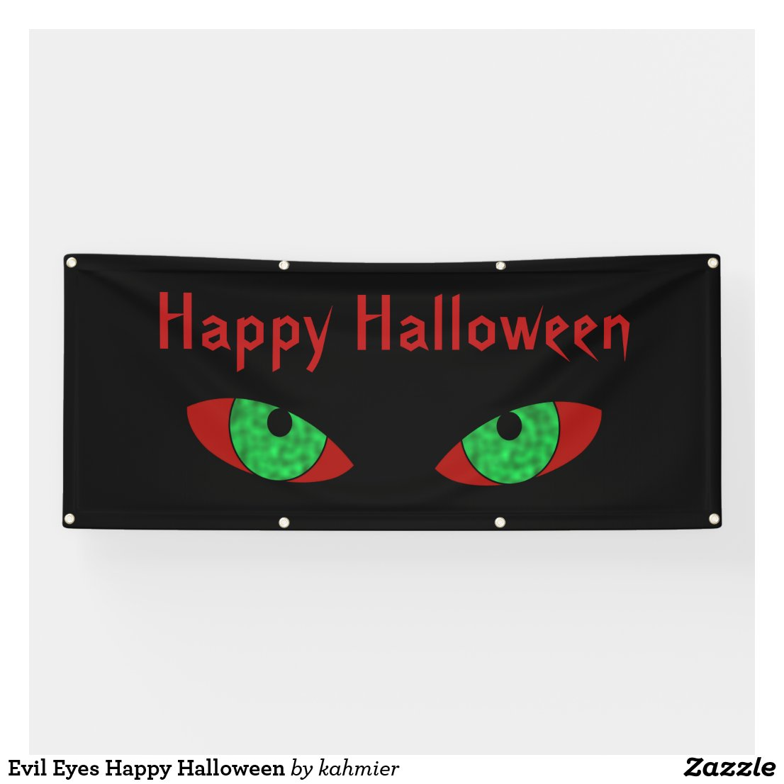 Evil Eyes Happy Halloween Banner