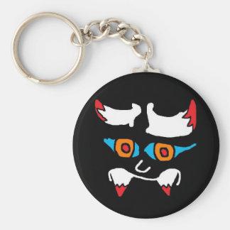 evil face 2 (2) basic round button keychain