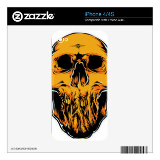 Evil Face Decal For iPhone 4