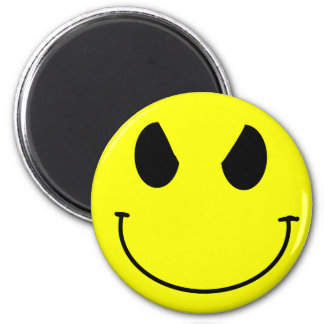 Evil face Smiley Magnet