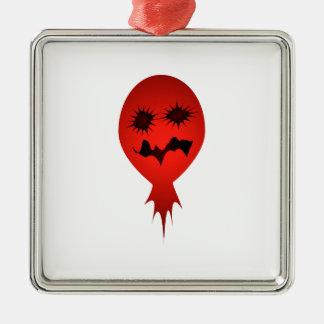 Evil Face Vector Illustration Metal Ornament