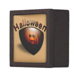 Evil Faced Pumpkin Keepsake Box