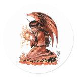 Evil Fairy doing Magic by Al Rio Classic Round Sticker