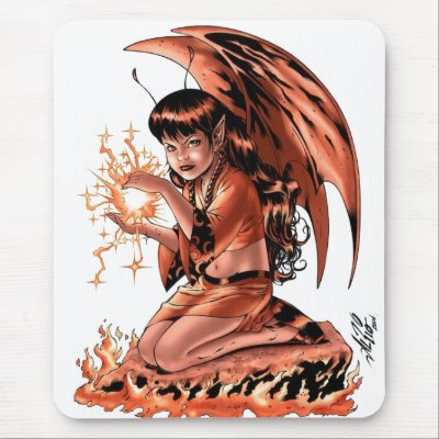 Evil fairy mouse pad