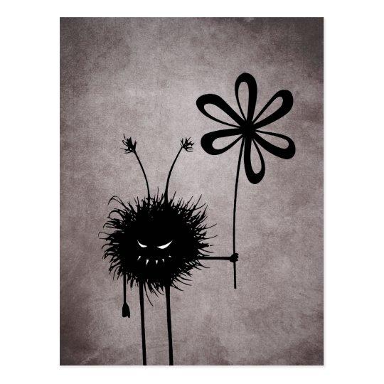 Evil Flower Bug postcard
