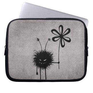 Evil Flower Bug Vintage 10in Laptop Sleeve