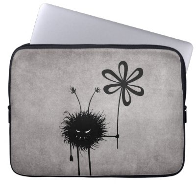 Evil Flower Bug Vintage 13in Laptop Sleeve