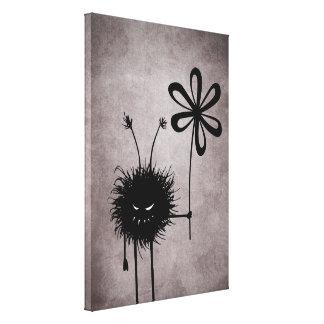 Evil Flower Bug Vintage Canvas Print