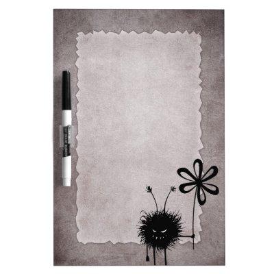 Evil Flower Bug Vintage Dry Erase Whiteboard