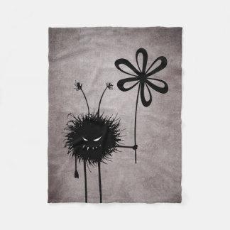 Evil Flower Bug Vintage Fleece Blanket