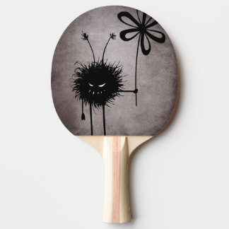 Evil Flower Bug Vintage Gothic Ping Pong Paddle