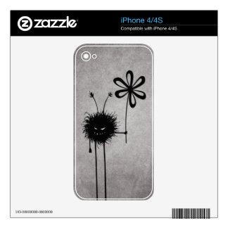 Evil Flower Bug Vintage iPhone 4S Skin