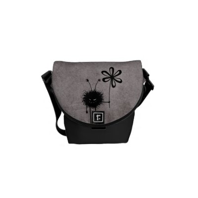 Evil Flower Bug Vintage Mini Messenger Bag