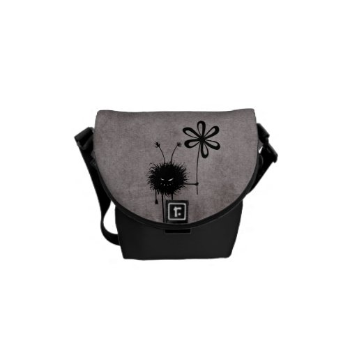Evil Flower Bug Vintage Mini Messenger Bag