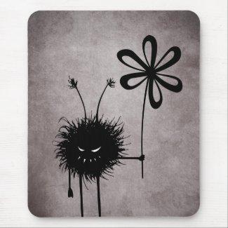 Evil Flower Bug Vintage Mousepad