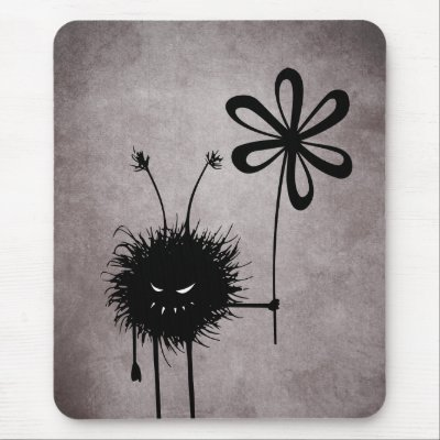 Evil Flower Bug Vintage Mousepad
