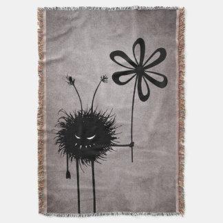 Evil Flower Bug Vintage Throw