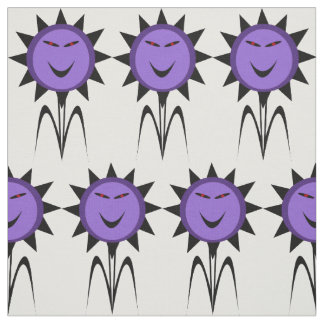 Evil Flower Kawaii Goth Halloween Craft Fabric