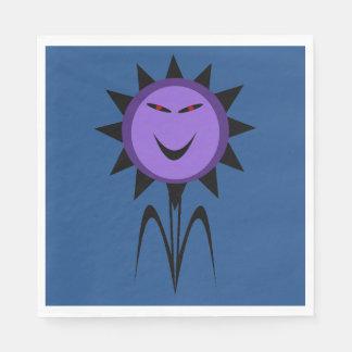 Evil Flower Kawaii Goth Halloween Paper Napkins