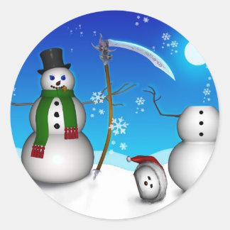 Evil Frosty (Stickers) Classic Round Sticker