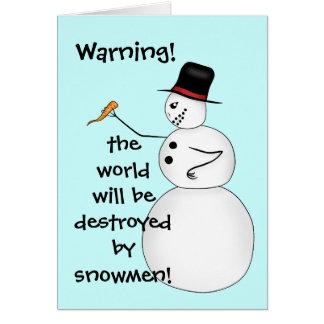 Evil funny Christmas snowman Card