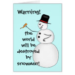 Evil funny Christmas snowman Greeting Card