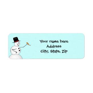 Evil funny Christmas snowman Return Address Label