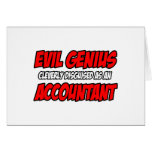 Evil Genius...Accountant Card
