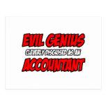 Evil Genius...Accountant Postcard