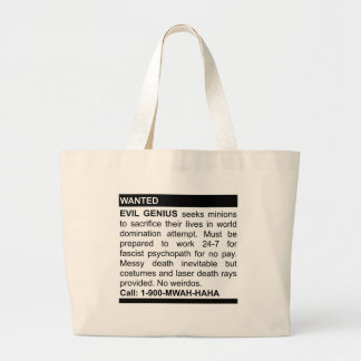 Evil Genius Ad Large Tote Bag