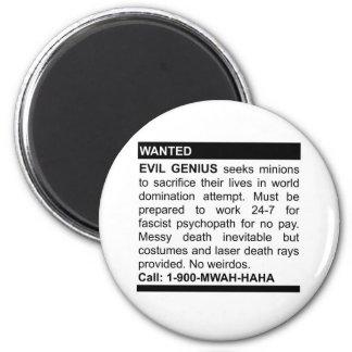 Evil Genius Ad Fridge Magnets