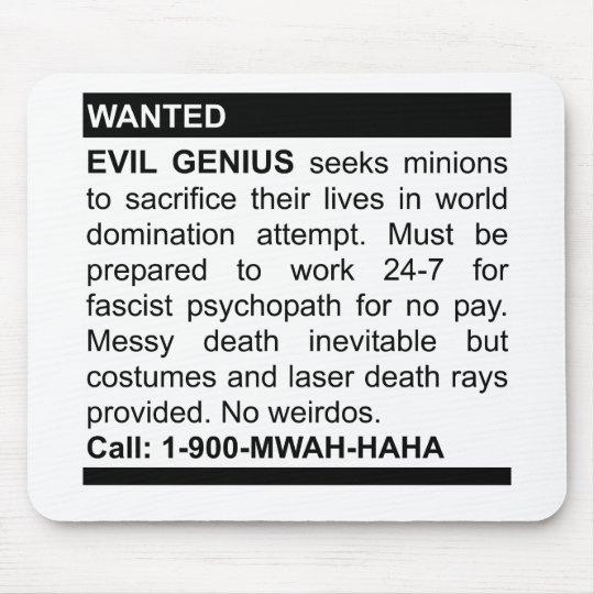 Evil Genius Ad Mouse Pad