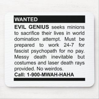 Evil Genius Ad Mouse Pads