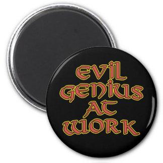 Evil Genius At Work Magnets