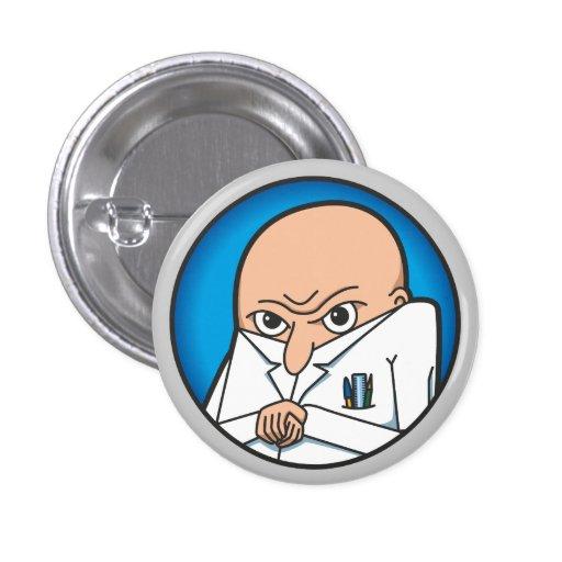 Evil Genius Badge Pinback Button