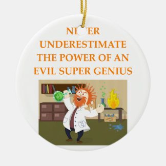 evil genius ceramic ornament