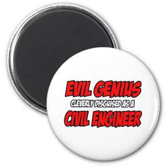 Evil Genius...Civil Engineer 2 Inch Round Magnet