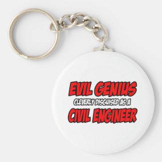 Evil Genius...Civil Engineer Basic Round Button Keychain