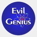 Evil Genius Classic Round Sticker
