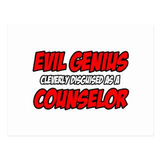 Evil Genius...Counselor Postcard