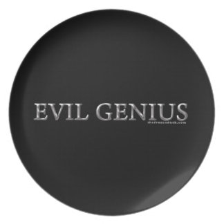 Evil Genius Dinner Plate