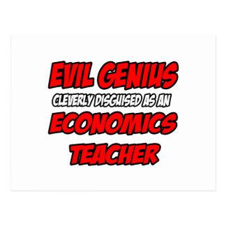 Evil Genius...Economics Teacher Postcard