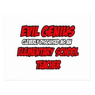 Evil Genius...Elementary School Teacher Post Card