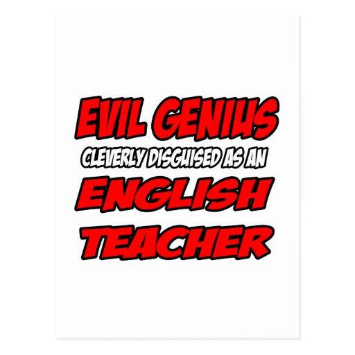 Evil Genius...English Teacher Postcards
