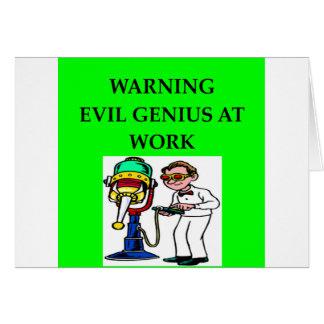 EVIL genius Greeting Cards