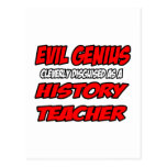 Evil Genius...History Teacher Postcard